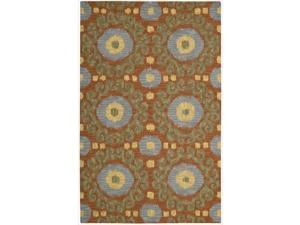 Nourison Hand-tufted Siam Rust Rug  (3'6 x 5'6)