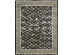 Nourison Hand-tufted Symphony Diamond Pattern Charcoal Rug (8' x 11')