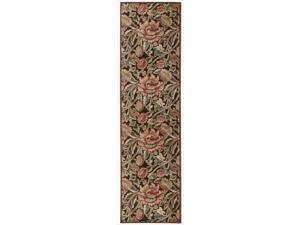 Nourison Graphic Illusions Floral Brown Multi Color Rug (2'3 x 8')