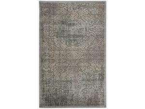 Nourison Graphic Illusions Grey Antique Damask Pattern Rug (2'3 x 3'9)