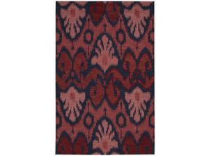 Nourison Hand-tufted Siam Red Navy Blue Rug (5'6 x 7'5)