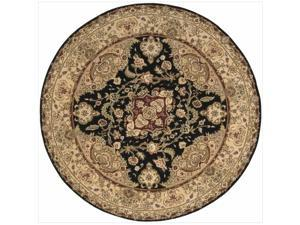 Nourison 2000 Traditional Hand-Tufted Tabriz Black Rug (6' x 6' Round)