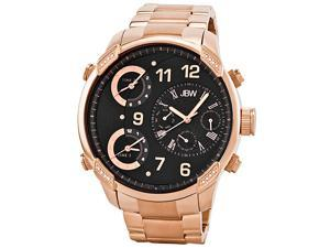 JBW Men's 'G4' Multi Time Zone Rose Gold Steel Lifestyle Diamond Watch