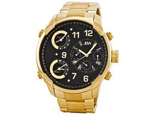 JBW Men's 'G4' Multi Time Zone Gold Stainless-Steel Lifestyle Diamond Watch