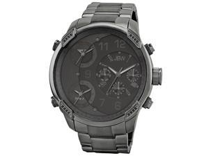 JBW Men's 'G4' Multi Time Zone Black Lifestyle Diamond Watch