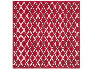 Safavieh Handmade Moroccan Red Wool Area Rug (7' Square)