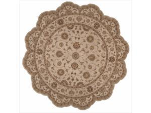 Hand-tufted Heritage Hall Freeform Ivory Rug (8' x 8')