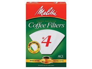Melitta Filter #4 40Ct Wht 3001-4088
