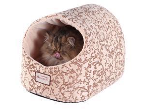 Armarkat Velvet Floral Pattern Cat Bed