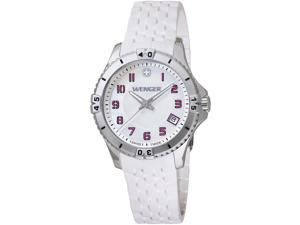 Wenger Women's Squadron Mother-Of-Pearl Dial White Rubber Watch - 0121.103