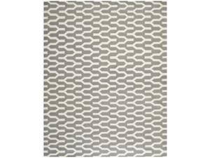 Safavieh Hand-woven Moroccan Reversible Dhurrie Silver Wool Rug (8' x 10')