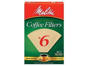Melitta Filter #6 Nat 40Ct 3001-6075