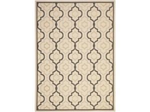 Safavieh Indoor/ Outdoor Courtyard Beige/ Black Rug (8' x 11')