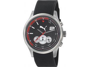 Puma Men's Black Rubber Quartz Watch
