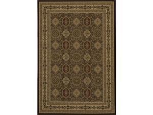 Westminster Tabriz Brown Panel Rug (5'3 x 7'7)