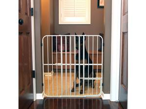 "Carlson Pet Products Big Tuffy Expandable Gate, Pet Door, Beige, 29-50"" - 0632"