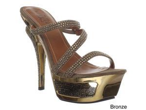Pleaser Day & Night Women's 'Deluxe-603' Strap Cut-out Platform Sandals
