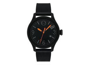 ESQ Movado Unisex 'ESQ ONE' Black Silicone Strap Watch
