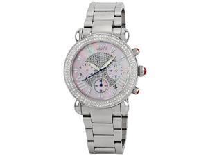 JBW Women's Stainless Steel Diamond Chronograph Watch