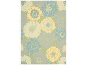 "Nourison Home and Garden Floral Green Indoor/Outdoor Rug (7'9"" x 10'10"")"