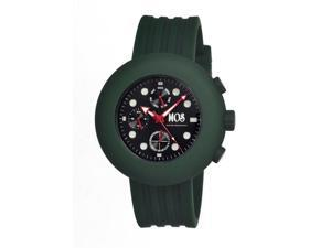 Mos Men's Rome Black Dial Forest Green Silicone Analog Chronograph Watch