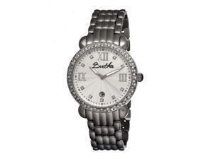 Bertha Women's 'Ruth' Stainless Steel White Analog Watch