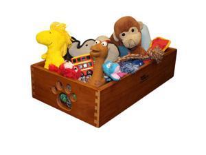 Dynamic Accents Wooden Artisan Bronze Pet Toy Box