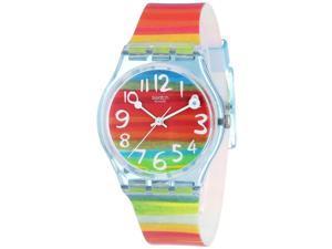 Swatch Womens Originals GS124 Multicolored Rubber Multicolored Dial Quartz Watch