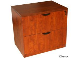 Boss Two-drawer Cherry or Mahogany Finished Lateral File