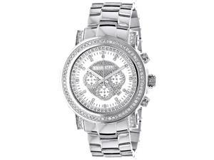 Luxurman Men's Diamond  and Stainless Steel Watch