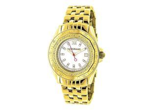 Luxurman Women's 1/4ct Diamond Yellow Gold Watch