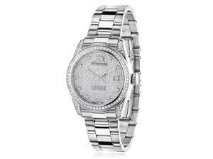 Luxurman Women's 'Tribeca' 1 1/2ct TDW Diamond Watch
