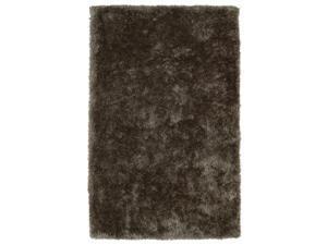 Hand-Tufted Silky Shag Light Brown Rug (5' x 7')
