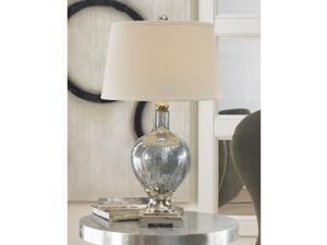 Mafalda Mercury Blue Glass Table Lamp