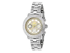 Luxurman Women's 1/3ct TDW Diamond Two-tone Watch