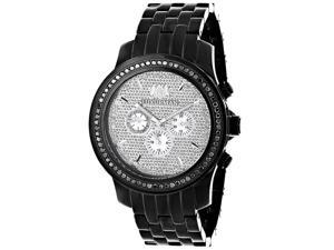 Luxurman Men's 2 1/4ct TDW Black Diamond Watch