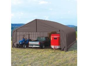 Shelterlogic Outdoor Garage Automotive/ Boat/ Car Peak Style Storage Grey Shed