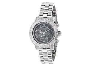 Luxurman Women's 1/3ct Stainless Steel Diamond Watch