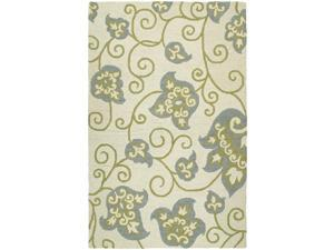 Zoe Whimsy Ivory Hand Tufted Wool Rug (9'0 x 12'0)