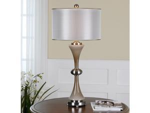 Amerson Glass Dual Shade Grey Table Lamp