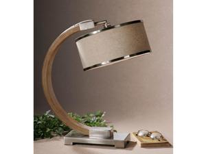 Metauro Wood Metal Fabric Table Lamp