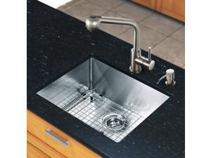 Vigo All-in-one 23-inch Undermount Stainless Steel Kitchen Sink and Faucet Set