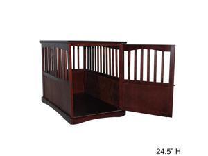Espresso Wooden Furniture Pet Crate