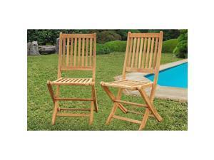 Terra Teak Dining Side Chairs (Set of 2)