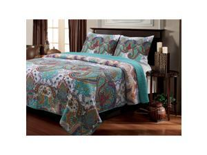 Nirvana Paisley Cotton 3-piece Quilt Set