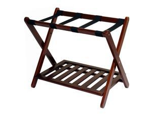 Hotel-style Luggage Rack with Shelf