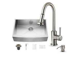 Vigo All-in-one 33-inch Farmhouse Stainless Steel Kitchen Sink and Faucet Set