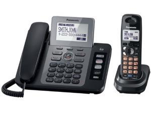 Panasonic KX-TG9471B 1.9 GHz Digital DECT 6.0 Two Line Expandable Corded/Cordless Phone with 1 Handset and Digital Answering Machine