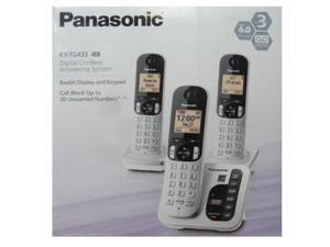Panasonic KX-TG433SK DECT 6.0 Cordless Phone System w/ Call Block & Silent Mode