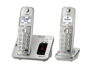 Panasonic KX-TGE262S DECT 6.0 Expandable Digital Cordless Answering System with 2 handsets